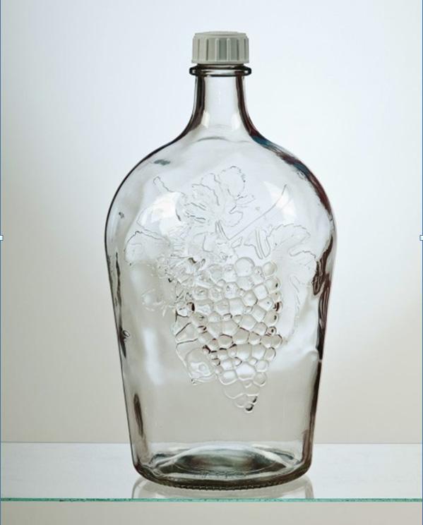 Бутыль стеклянная, 4,5 л