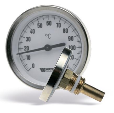 Термометр биметаллический, осевой