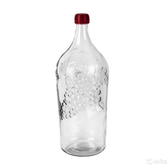 Бутыль стеклянная, 2 л