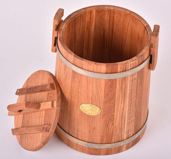 Дубовая кадка для засолки объемом 3 литра